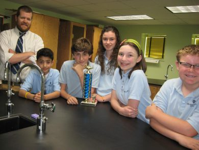 Middle School Scholars Bowl team won the Scholars Bowl Tournament in 2012 and 2013.
